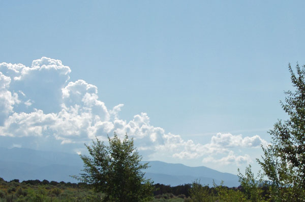 Clouds from Los Alamos 9-5-09