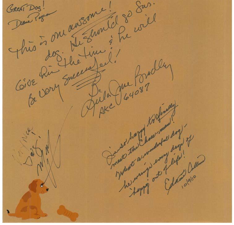 Autograph page blog