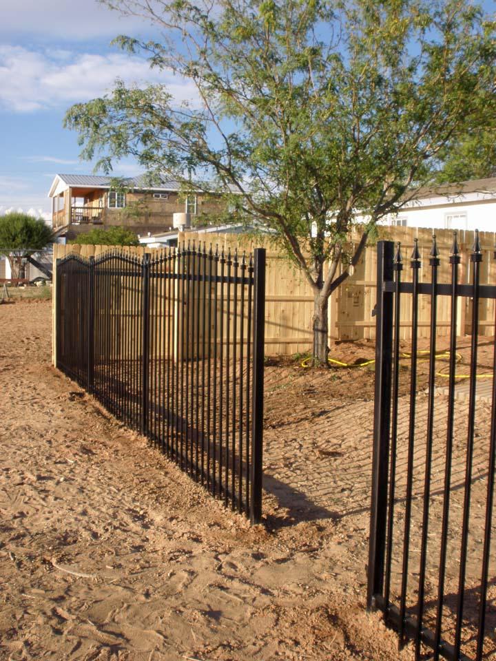 Wrought Iron Gate Facing To NE 10 1 2010
